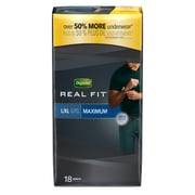 Depend Real Fit Incontinence Underwear for Men, Maximum Absorbency, Large/XL, Grey (33992X)