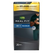 Depend Real Fit Incontinence Briefs for Men, Maximum Absorbency, Small/Medium, Grey (33995X)