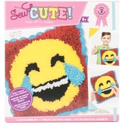 Colorbok Emoji Laugh Tears Emoji Sew Cute! Latch Hook Kit (73732)