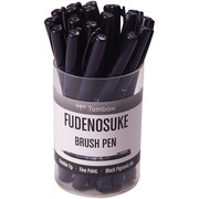 Tombow Black Tombow Fudenosuke Fine Tip Brush Pen Cup 20/Pkg (82035)