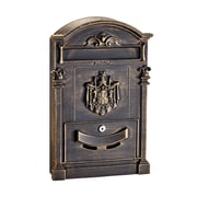 AdirHome Bronze Steel Coat of Arms Mailbox (631-0805-BRZ)