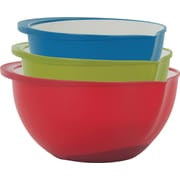 Trudeau Maison Polypropylene Mixing Bowls Set of 3, Multicolor (999053)
