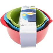Trudeau Maison Melamine Mixing Bowl Set of 3, Red/Blue/Green (0993010A)