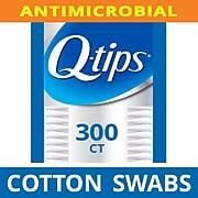 Q-tips Cotton Swabs Antimicrobial, 300 Count  (17900)