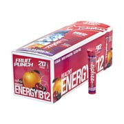 ZIPFIZZ Healthy Energy Fruit Punch Dietary Supplement with Vitamin B12, 20 Count (220-00749)