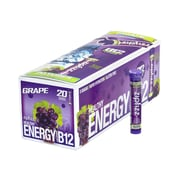 ZIPFIZZ Healthy Energy Grape Dietary Supplement with Vitamin B12, 20 Count (220-00750)