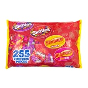 SKITTLES & STARBURST Fun-Size Variety Pack, 255 Pieces, 104.4 oz (220-00768)