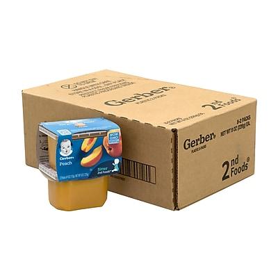 Gerber 2nd Foods Peach Baby Food, 4