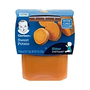 Gerber 2nd Foods Sweet Potato Baby Food, 4 oz, 2-Packs, 8 Count (307-00061)