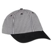 Chef Designs® Chef Ball Cap with Bill, Black & White Checker, M