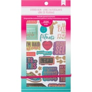 "American Crafts 4.75""W X 9""H Fitness American Crafts Planner Stickers 12-Page Book (ACPSB-92965)"