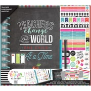 Me & My Big Ideas Teachers Change The World Happy Memory Keeping 12-Month Dated Planner Box Kit (BOX184)