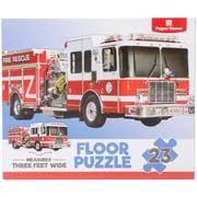 """Paper House Fire Truck Floor Puzzle 23 Pieces 36""""H X 16.5""""W (PUZ4004E)"""