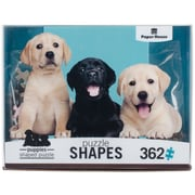 "Paper House Puppies Jigsaw Shaped Puzzle 362 Pieces 26""H X 16.25""W (PUZ0049E)"