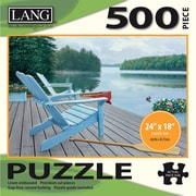 "LANG Lakeside Retreat Jigsaw Puzzle 500 Pieces 24""H X 18""W (50391-16)"