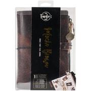 "Prima Marketing Mocha Brown Prima Traveler's Journal Leather Essential 5""H x 7.25""W Brown (630416)"