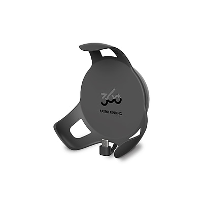 360 Electrical 360579 PowerClip Outlet Mount for Google Home Mini charcoal