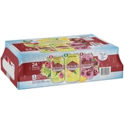 Arrowhead Sparkling Water, Black Cherry, Lemon Lime, and Raspberry Lime, 12 oz. Cans (Variety Pack of 24) (12349687)
