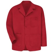 Red Kap® Long-Sleeve Lapel Counter Coat, Red, XL