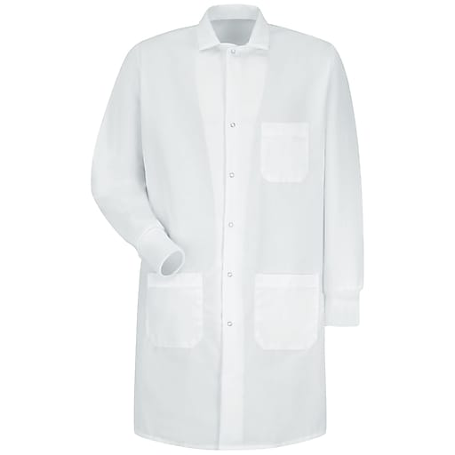 Red Kap 174 Unisex Specialized Cuffed Gripper Front Lab Coat