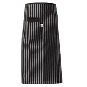 Chef Designs Cotton Bistro Apron With Large Pocket & Divider, Black & White Stripe