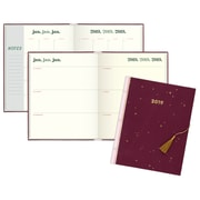 "2019 Emily + Meritt Weekly/Monthly Planner, Perfect Bound, 12 Months, January Start, 7 7/8"" x 9 7/8"", Burgundy (EM101-903-19)"