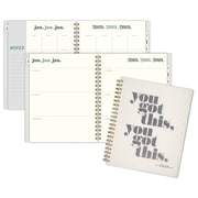 "2019 Emily + Meritt Weekly/Monthly Planner, 12 Months, January Start, 8 1/2"" x 11"", You Got This (EM102-905-19)"
