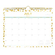 "2018-2019 Blue Sky Wall Calendar DD Gold Spotty 11""H x 8.75""W  Monthly Wirebound (108329 )"