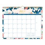 "2018-2019 Day Designer for Blue Sky 15"" x 12"" Monthly Wall Calendar, Carrie Floral (108313)"