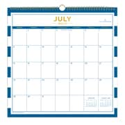 "2018-2019 Blue Sky 12""H x 12""W Monthly Wall Calendar Day Designer Collection (108320)"