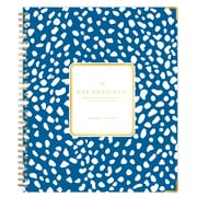 "2018-2019 Blue Sky Planner Day Designer Deep Blue Spotty LGB 8""H x 10""W Weekly/Monthly Wirebound (108323)"