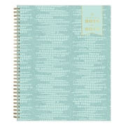 "2018-2019 Blue Sky Planner Day Designer Mint Le Liz PP 8.5""H x 11""W Weekly/Monthly Wirebound (108316)"