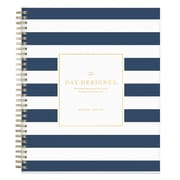 "2018-2019 Blue Sky Planner Day Designer Navy Stripe PP 8""H x 10""W Daily/Mthly Wirebound (107929-A19)"