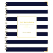 "2018-2019 Blue Sky Planner Day Designer Navy Stripe LGB 8""H x 10""W Weekly/Monthly Wirebound (107932-A19)"