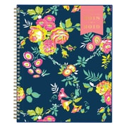 "2018-2019 Blue Sky 8.5""H x 11""W Planner Day Designer Peyton Navy CYO Weekly/Monthly (107924-A19)"