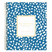 "2018-2019 Blue Sky 8""H x 10""W Planner Day Designer Deep Blue Spotty Daily/Mthly (108324)"