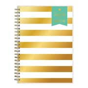 """2018-2019 Blue Sky 5.87""""H x 8""""W .63""""D Planner Notes Day Designer Gold Stripe Weekly/Monthly (107931-A19)"""
