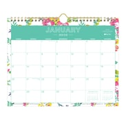 "2019 Day Designer Wall Calendar, Peyton White, 11"" H x 8.75"", W RY Monthly, Wirebound (103629-19)"