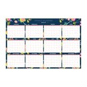 "2019 Blue Sky Laminated Calendar DD Peyton Navy 36"" H x 24 "" W RY Horizontal/Vertical (103632-19)"
