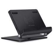 LAX Gadgets Rotating Smartphone Base Wireless Charging Pad Stand, Black (QISTAND01-BLK)
