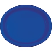 Creative Converting Pack of 24 Cobalt Blue Oval Plates (DTC433147OVALAB