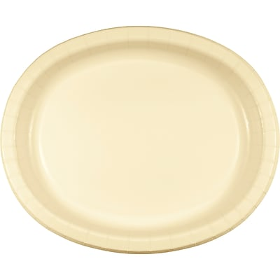 Creative Converting Pack of 24 Ivory Oval Plates (DTC433264OVALAB