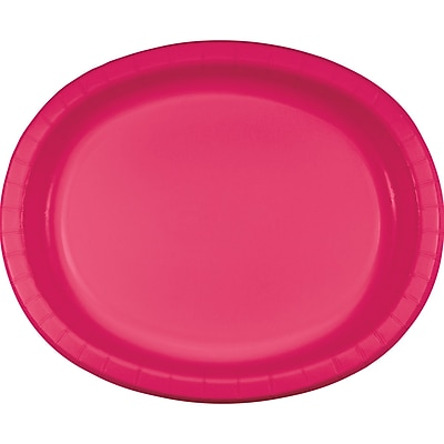 Creative Converting Pack of 24 Hot Magenta Pink Oval Plates (DTC433277OVALAB