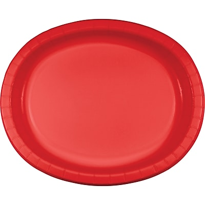 Creative Converting Pack of 24 Classic Red Oval Plates (DTC433548OVALAB
