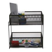 Mind Reader 2 Tier Metal Mesh Storage Baskets Organizer, Home, Office, Kitchen, Bathroom, Black (CABASK2T-BLK)