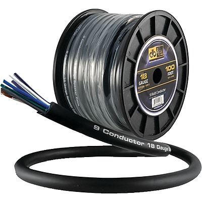DB Link 18-Gauge 9-Multiconductor Speaker Wire with Remote Trigger, 100ft(STMC918G100)