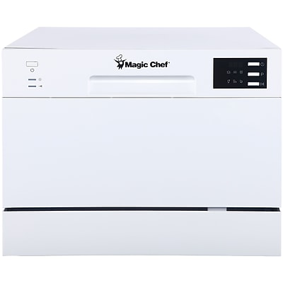 Magic Chef MCSCD6W5 6-Setting Countertop Dishwasher