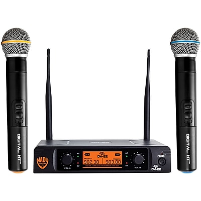 Nady Dual-Transmitter Digital Wireless Microphone System (2 Digital HT Handheld Microphones) (NDYDW22HTANY)(DW-22-HT-ANY)