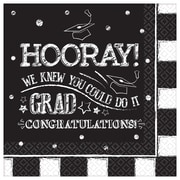 "Amscan Hooray Grad Luncheon Napkins, 6.5"" x 6.5"", Paper, 3/Pack, 36 Per Pack (711754)"