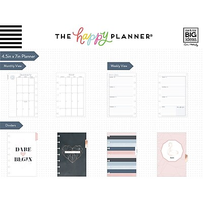 2019 The Happy Planner 4 5 H X 7 W Mini Planner Geo Dreams Plnm